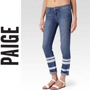 PAIGE | STRIPED JIMMY JIMMY SKINNY JEANS